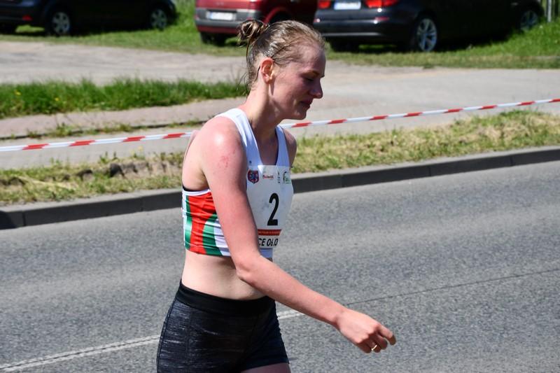 zawodniczka z nr 2 Mistrzostw Polski w chodzie sportowym na 20 km